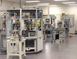 A part of Demco Automation's factory floor